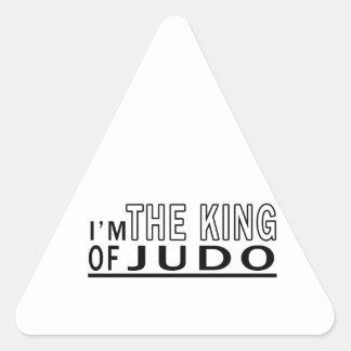 Soy el rey Of Judo Calcomania De Trianguladas