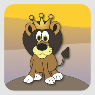 Soy el rey pegatinas cuadradas
