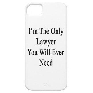 Soy el único abogado que usted necesitará nunca iPhone 5 protectores