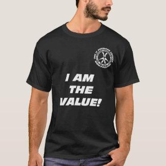 ¡Soy el valor! Camiseta del negro
