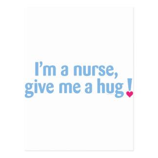 ¡Soy enfermera, me doy un abrazo! Postal