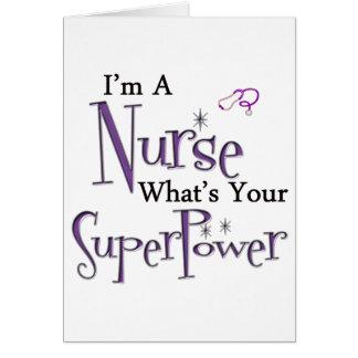 Soy enfermera tarjeta