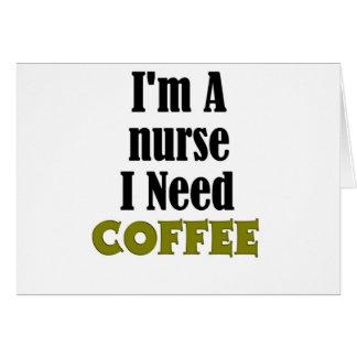 Soy enfermera tarjeta de felicitación