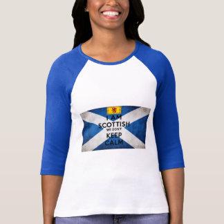 Soy escocés nosotros no guardo calma camiseta