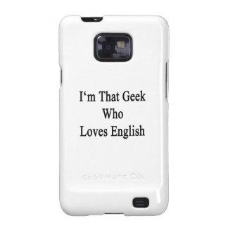 Soy ese friki que ama inglés samsung galaxy SII funda