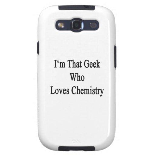 Soy ese friki que ama química samsung galaxy s3 cárcasas
