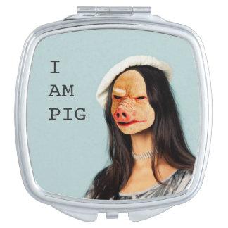"""""""Soy espejo compacto del cerdo"""""""