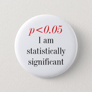 Soy estadístico significanat chapa redonda de 5 cm