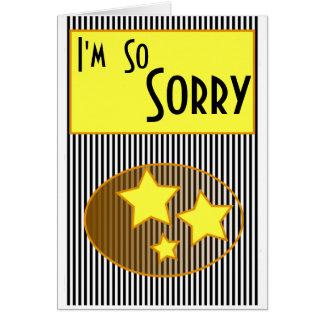 Soy estrellas amarillas tan tristes y el negro tarjeta de felicitación