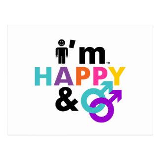 Soy gay feliz y LGBT aceptable Postal