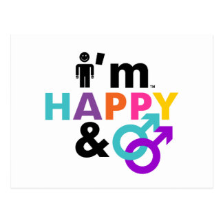 Soy gay feliz y LGBT aceptable Tarjetas Postales