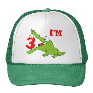 Soy gorra divertido de tres niños del cocodrilo