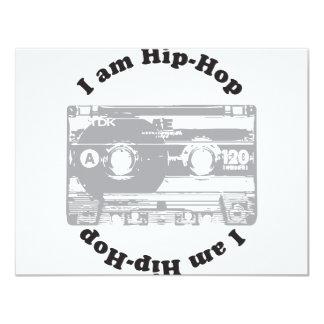 Soy hip-hop invitación 10,8 x 13,9 cm