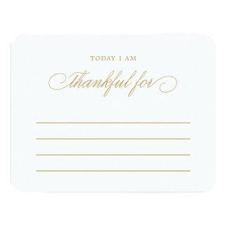 Soy hoy agradecido para las tarjetas de la cena de invitación 10,8 x 13,9 cm