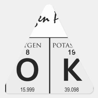 Soy humor de la ciencia de la AUTORIZACIÓN del Pegatina Triangular
