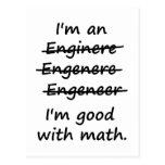Soy ingeniero que soy bueno en la matemáticas postales