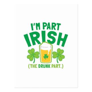 Soy IRLANDÉS de la PARTE (la parte BORRACHA) con l Tarjetas Postales