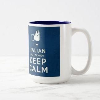 Soy italiano yo no puedo guardar calma taza