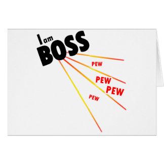 Soy jefe tarjeta de felicitación