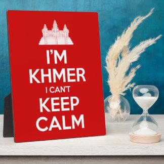 Soy Khmer que no puedo guardar calma Placa Expositora
