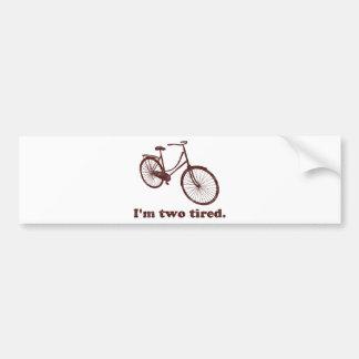 Soy la bicicleta soñolienta demasiado cansada cans etiqueta de parachoque