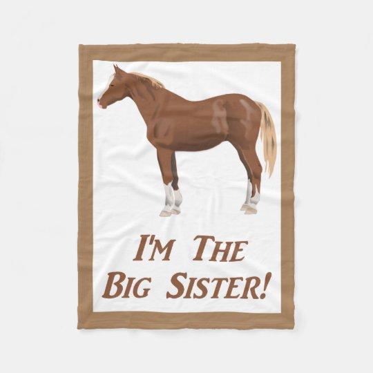 Soy la manta de caballo de la hermana grande
