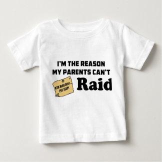¡Soy la razón que mis padres no pueden atacar! Camiseta Para Bebé