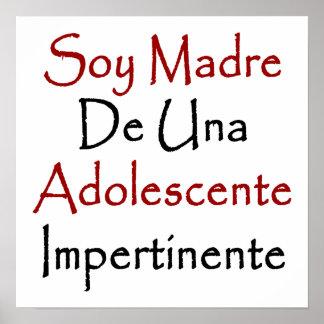 Soy Madre De Una Adolescente Impertinente Posters