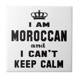 Soy marroquí y no puedo guardar calma azulejo cuadrado pequeño