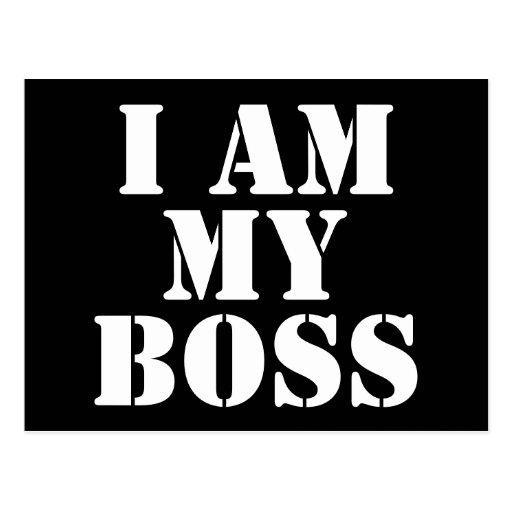 Soy mi Boss. Lema Tarjetas Postales