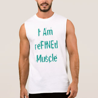 Soy músculo refinado remera sin mangas