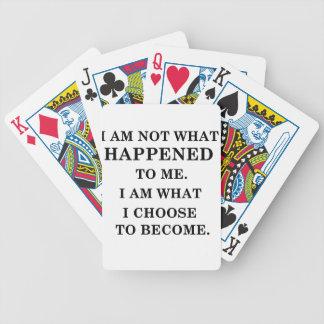 soy notwhat me sucedí. soy a lo que ichoose baraja de cartas bicycle