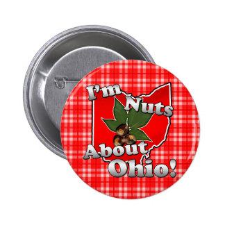 Soy Nuts sobre Ohio, nuez divertida del castaño de Chapa Redonda 5 Cm