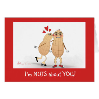 Soy Nuts sobre usted - tarjeta de felicitación del