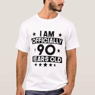 Soy oficialmente 90 años del 90.o cumpleaños camiseta