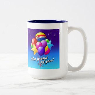 Soy orgulloso de usted taza