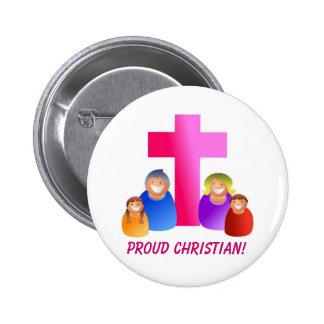 Soy orgulloso ser un cristiano - botón del diseñad pin
