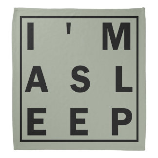 Soy pañuelo dormido bandana