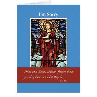 Soy pastor triste, religioso, bueno tarjeta de felicitación