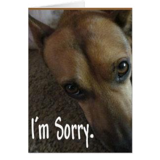 Soy perro triste triste tarjetón