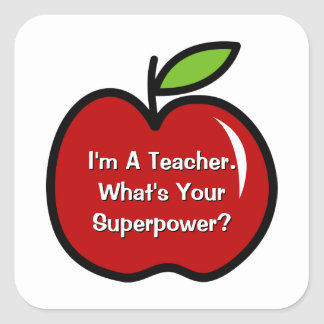 Soy profesor cuál es sus pegatinas de la pegatina cuadrada