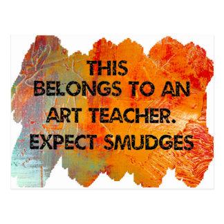 Soy profesor de arte. Cuente con las manchas Postal