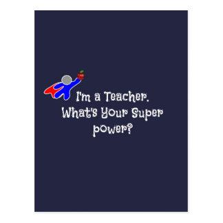 Soy profesor--humor del profesor tarjeta postal