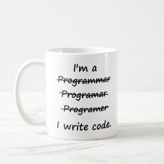 Soy programador que escribo el abecedario del malo taza