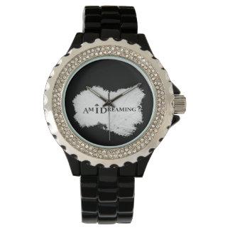 Soy que soña negro del reloj del diamante