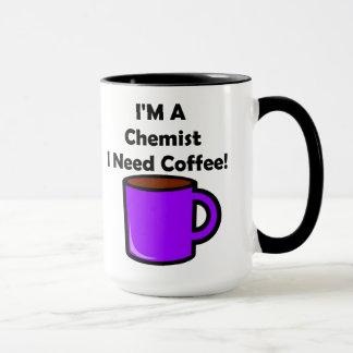 ¡Soy químico, yo necesito el café! Taza