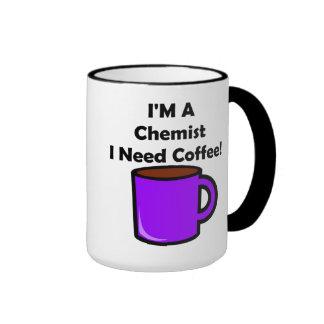 ¡Soy químico, yo necesito el café! Taza De Dos Colores