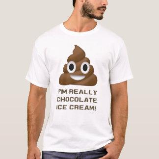 Soy realmente impulso divertido Emoji del helado Camiseta