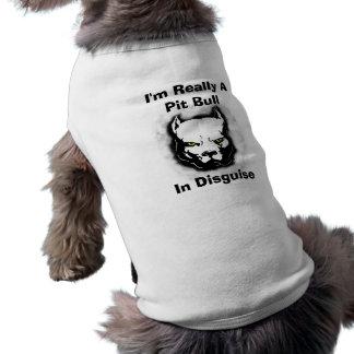 Soy realmente un pitbull en disfraz camiseta sin mangas para perro