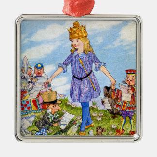 Soy reina Alicia en el país de las maravillas Ornamentos De Reyes Magos